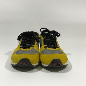 Fila Shoes - FILA Retro Yellow Suede & Grey Mesh Sneakers